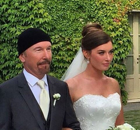 congratulations to the edge on his daughter�s wedding